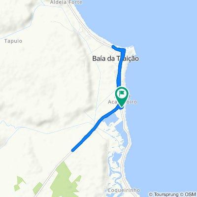 Moderate route in Baía da Traição