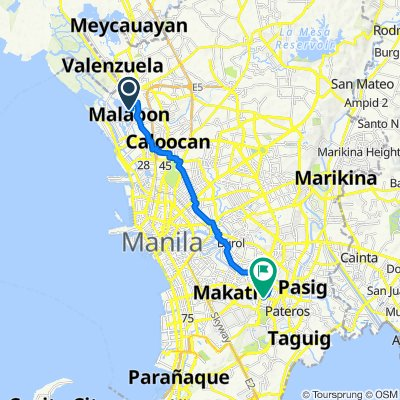 Malabon to The Globe Tower, Taguig