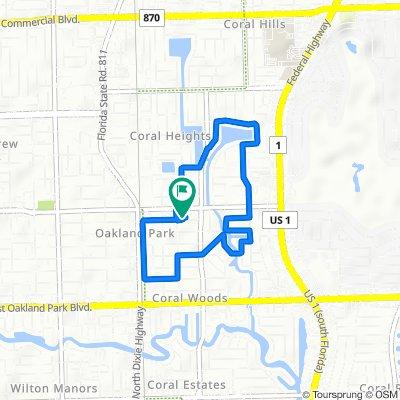 1523 NE 37th St, Oakland Park to 1523 NE 37th St, Oakland Park