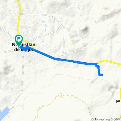 Restful route in Nochistlán de Mejía