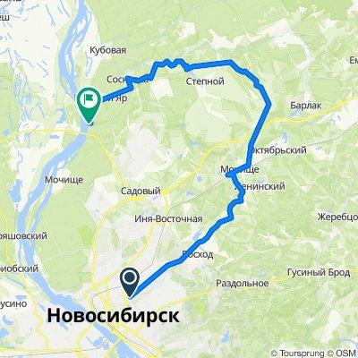 От улица Кошурникова 175, Новосибирск до Unnamed Road