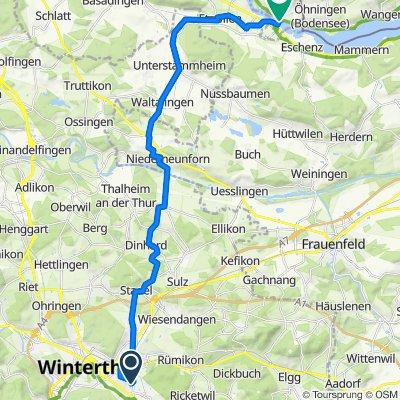 Seenerstrasse 152, Winterthur to Oberstadt 7, Stein am Rhein