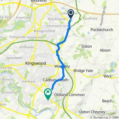 28 Willowherb Road, Bristol to 14 Stanhope Road, Bristol
