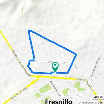De Calle Sierra de Valdecañas 204, Fresnillo a Calle Sierra de Valdecañas 209, Fresnillo