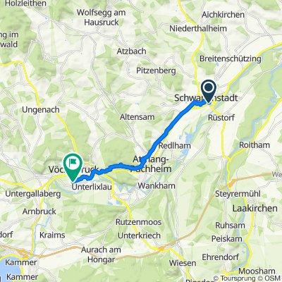 Gmundner Straße 26, Schwanenstadt to Tegetthoffstraße 46, Vöcklabruck