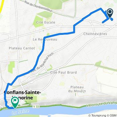 2–12 Rue du Chemin Vert, Conflans-Sainte-Honorine to 3 Port de Plaisance Saint-nicolas, Conflans-Sainte-Honorine