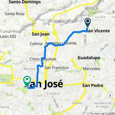 De Avenida 67C, San Vicente a Avenida 10 22, San José