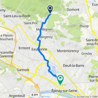 От Chemin de Montlignon au Château 179 до Avenue de Lattre de Tassigny 103, Épinay-sur-Seine