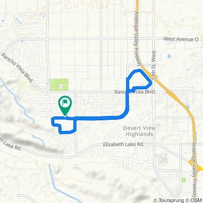 Slow ride in Palmdale