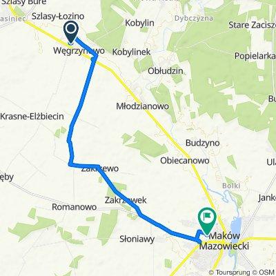 High-speed route in Maków Mazowiecki