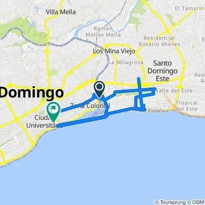 Avenida Francisco Alberto Caamaño Deñó, Santo Domingo to Calle Benigno Filomeno de Rojas 153, Santo Domingo