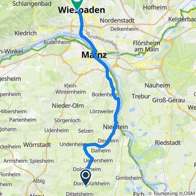 Restful route in Wiesbaden