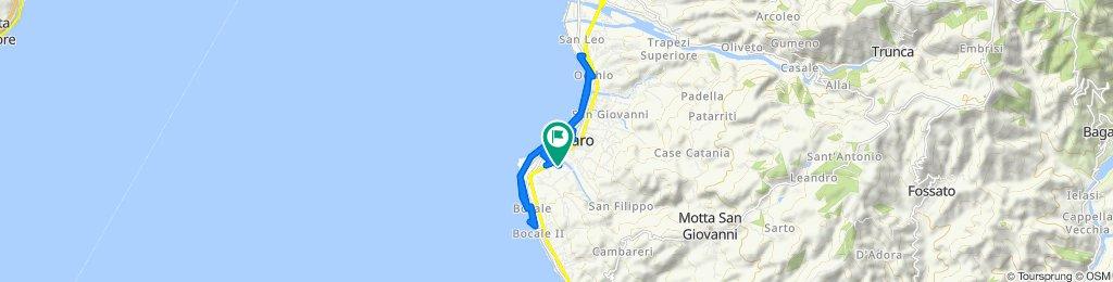 Restful route in Reggio di Calabria
