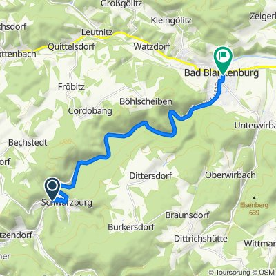 L1112, Schwarzburg nach Wirbacher Straße, Bad Blankenburg