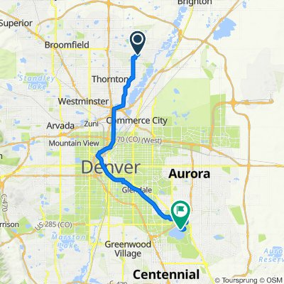 11500 Birch Dr, Thornton to 4201 S Parker Rd, Aurora