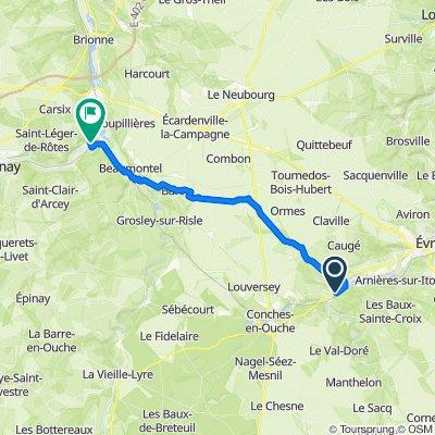De Lotissement le Pré de la Rochette 15, Glisolles à Rue Max Carpentier 117, Serquigny