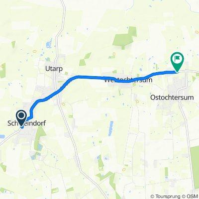 Langsame Fahrt in Ochtersum