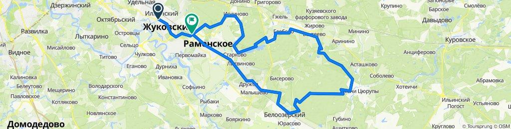 От улица Гагарина 56, Жуковский до Академическая улица 16, Кратово