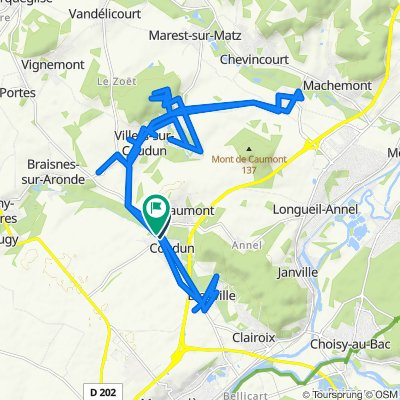 Sporty route in Coudun