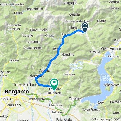 Da Via Chiesa 16, San Lorenzo di Rovetta a Via Nazionale 35, Trescore Balneario