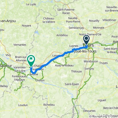 Tours - Chouzé sur Loire