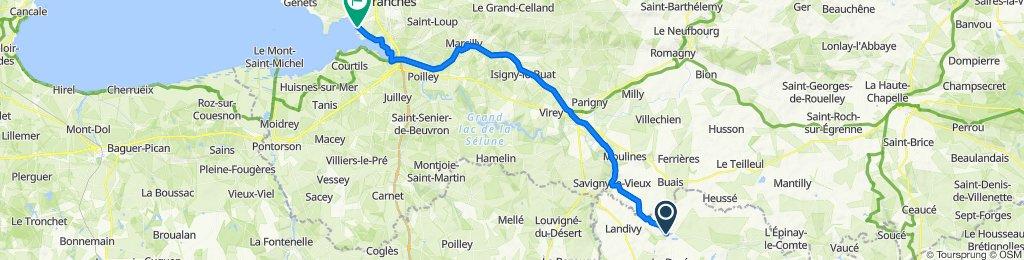 12–30 Place du Rassemblement du 28 Juillet 1944, Fougerolles-du-Plessis to 44bis Bouillé, Le Val-St.-Père