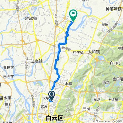 Moderate route in 广州市