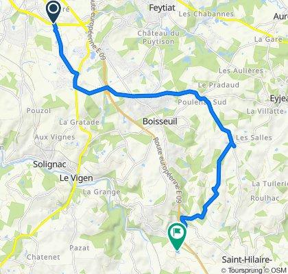 De 72 Rue Paul Claudel, Limoges à Léréterie, Saint-Hilaire-Bonneval