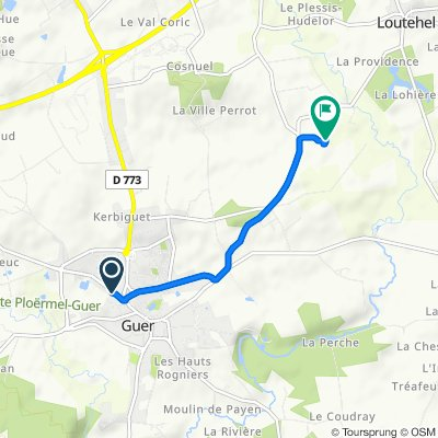 De Rue des Sapins Verts 25, Guer à La Métairie Neuve 376, Guer