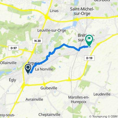 De 4 Rue Saint-Blaise, Arpajon à 5 Square des Canaris, Brétigny-sur-Orge