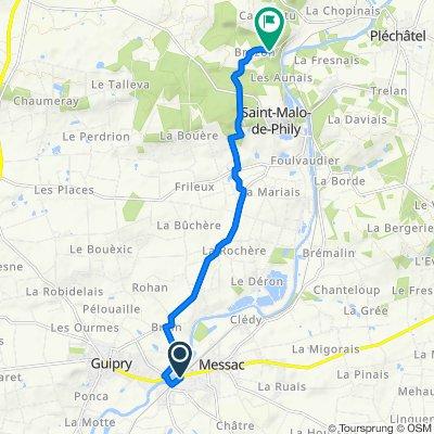 De Gare Messac - Guipry à Le Clos de la Grée 143, Saint-Senoux