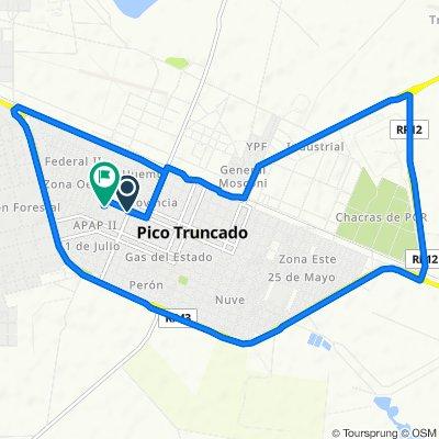 De Avenida 13 de Diciembre, Pico Truncado a Cepernik, Pico Truncado