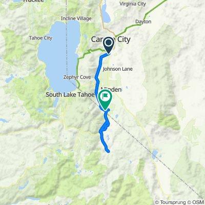 Virtual Coeur d'Alene 70.3 Bike route