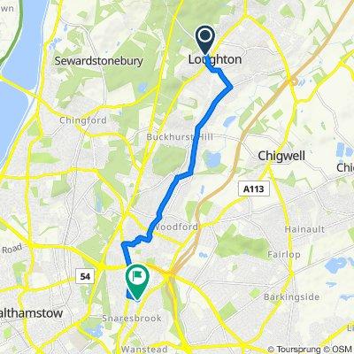 38 High Beech Road, Loughton to 48 Tavistock Road, London