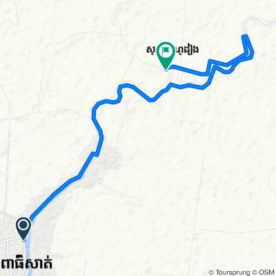 101, Krong Pursat to Unnamed Road, Kandieng