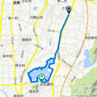 Relaxed route in 深圳市