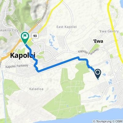 Essex Rd, Ewa Gentry to 599 Farrington Hwy, Kapolei