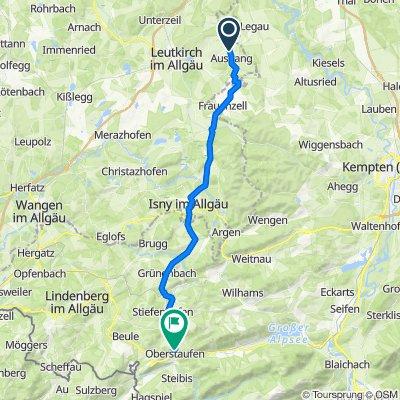 An der Ach 28, Leutkirch im Allgäu nach Am Sandbühl 11, Oberstaufen