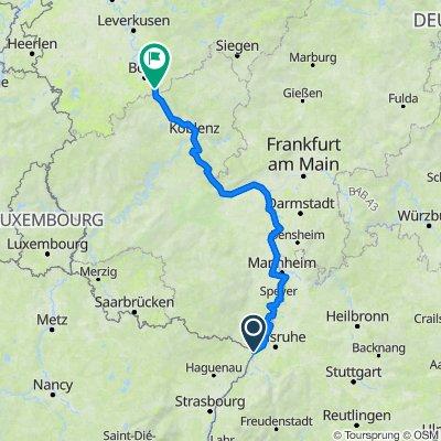 Rheinradweg in Rheinland-Pfalz