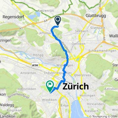 Schwandenholzstrasse 246, Zürich nach Saumstrasse 47, Zürich