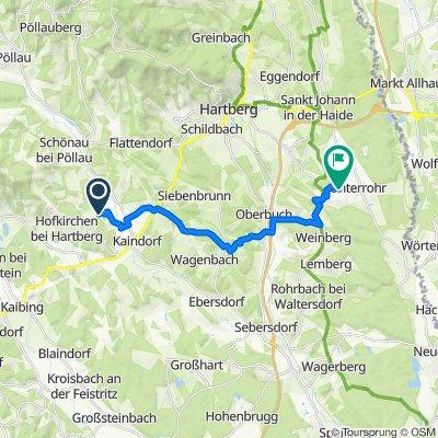 Hofkirchen bei Hartberg 130 nach Glauberg 231, Unterrohr