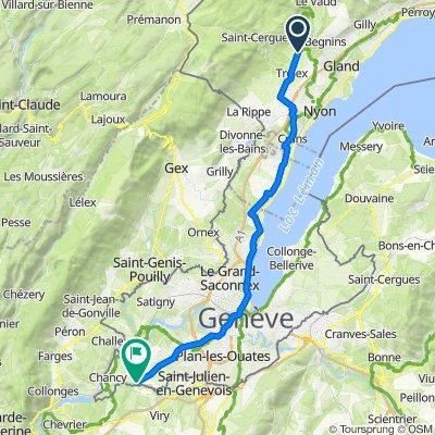 De Route de Trélex 33A, Genolier à Route de Grenand 72, Athenaz (Avusy)