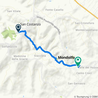Da Via Craxi 5D, San Costanzo a SP17 16, Mondolfo