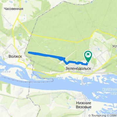 От улица Чайковского 63, Зеленодольск до улица Чайковского 62, Зеленодольск