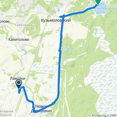 От проспект Авиаторов Балтики 31, Мурино до Ленинградская область