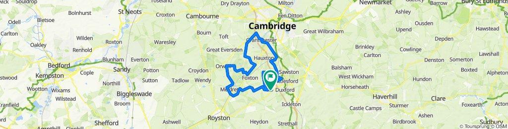 82 Kingsway, Cambridge to 35 Hurdles Way, Cambridge
