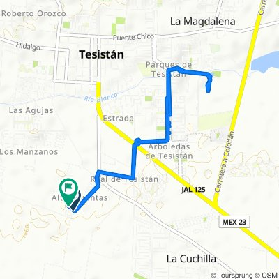 Relaxed route in Tesistán