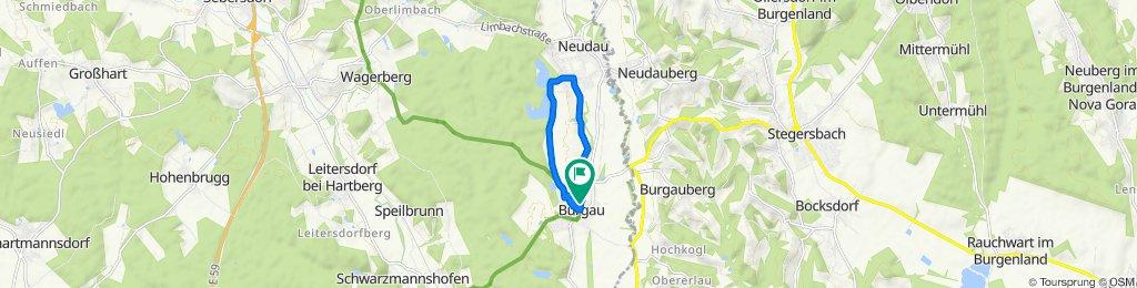 Burgau - Neudauer Teiche - Greith - Burgauer Schlossbad