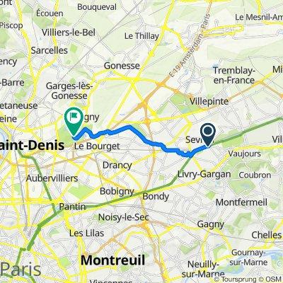 De Avenue de Livry 4, Sevran à Avenue Waldeck Rochet 73, La Courneuve