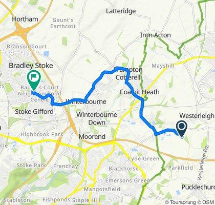 Oakleigh Green Farm Lane, Bristol to 76 Sherbourne Avenue, Bristol